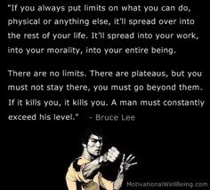 """For me Bruce Lee was inspirational to me for his ability and willingness to combine tradition and """"the new"""" and thus create brilliance. Inspirational Quotes Pictures, Best Motivational Quotes, Best Quotes, Quotes Images, Favorite Quotes, Bruce Lee Frases, Bruce Lee Quotes, Strong Mind Quotes, Positive Quotes"""