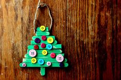 spoonful: Christmas Craft : Popsicle Stick Tree Ornament