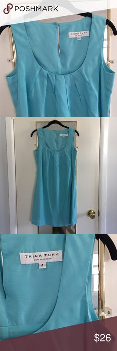Trina Turk Teal Blue Shift Dress Perfect for graduations, bridal showers, any spring or summer dressy event. Trina Turk Dresses