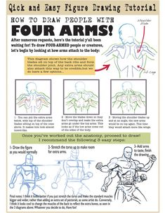 http://grafight.deviantart.com/art/Fantasy-tutorial-Four-arms-character-428756141