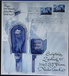✉ Mail Art Across the World 3 Susan Cone Porges. ✉ Snail mail art at its best.