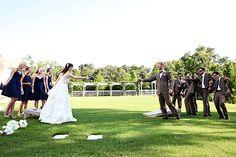 Cornhole at your wedding. Fantastic idea! #WeddingWednesday Photography By http://vineandlight.com, Floral Design By http://amandasflorist.squarespace.com