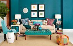 Parede azul, again. Acho que estou descobrindo a cor da minha sala.