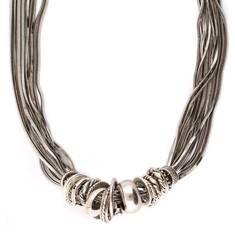 [COLLIER JOS]  Bracelet multichaînes en métal argenté composé d'anneau de formes, tailles et styles différents. Les embouts du collier sont gravés et habillés du logo Gas bijoux.   #gasbijoux #bijoux #mode #paris #marseille #sainttropez #milan #newyork #fashion #jewel #silver