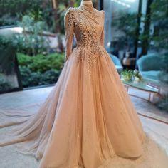 Hijab Prom Dress, Prom Dresses With Sleeves, Ball Dresses, Indian Prom Dresses, Muslim Evening Dresses, Fashion Drawing Dresses, Fashion Dresses, Beautiful Dresses, Nice Dresses