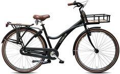 Vogue Jumbo - Transportfiets - Dames - Mat Zwart - 50 cm