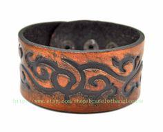 Jewelry bangle leather bracelet men bracelet fashion bracelet made of  Restore ancient ways leather wrist bracelet  sh-0074 on Etsy, $8.50