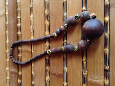 Vintage chunky  surfer boho hippie wooden bead by Mamaphias, $28.00