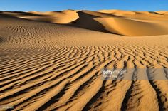 Photo : Small erg or sand dunes near Tehenadou, Adrar nAhnet, Adrar Ahnet, Algeria, Sahara, North Africa