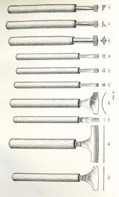 bookbinding gilding tools