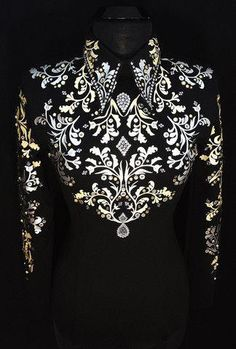 Golden Galactic Horsemanship Shirt by Lisa Nelle – Just Peachy Western Show Shirts, Western Show Clothes, Horse Show Clothes, Equestrian Outfits, Western Outfits, Western Wear, Western Style, Showmanship Jacket, Show Jackets