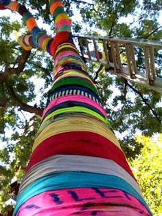 """Tree Love""  We Love Colors  Art installation project in Zaragoza Spain"