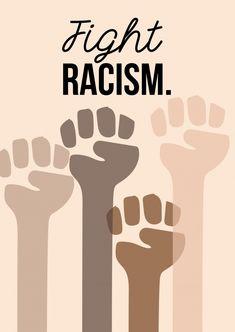 Fight racisim | DEMOCRACY DELIVERED | Send real postcards online | MyPostcard.com