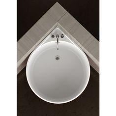 Baignoire d'angle ronde MINI WHITE by Glass Design