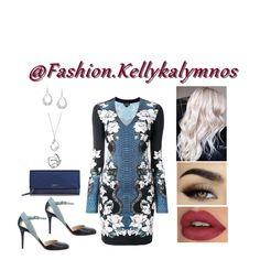 Blue reptile & white flowers - Fashion look Dress Styles, White Flowers, Short Dresses, Fashion Dresses, Floral Prints, Fashion Looks, Blue, Shopping, Women