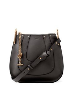 Hayley+Small+Leather+Hobo+Bag,+Black+by+Chloe+at+Neiman+Marcus.