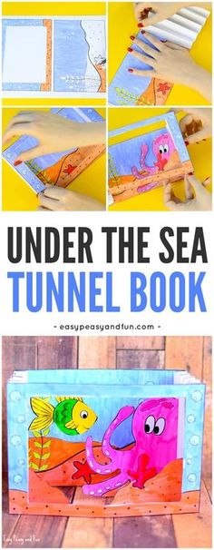 Printable Under the Sea Tunnel Book Craft for Kids