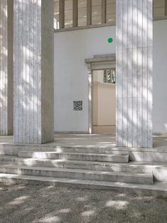 """Called 2038 – The New Serenity, the presentation consists of a virtual """"Cloud Pavilion"""" accessed by pointing smartphones at matrix barcodes on the walls of Germany's neoclassical exhibition venue in the biennale gardens. Places Around The World, Around The Worlds, Building Exterior, Neoclassical, Open Up, Worlds Of Fun, Pavilion, Venice, Serenity"""