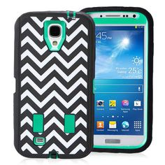 SAMSUNG GALAXY S4 CASE, SHOCKPROOF DIRT PROOF HYBRID ARMOR COVER (FASHION WAVE GREEN) | #cellphonegadgets #mobileaccessories www.kuteckusa.com