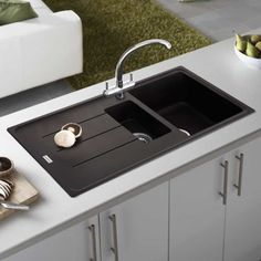 9 Best Of Best Farmhouse Small Sink Design Ideas When you are picking farmhouse sink you can . sink faucet black 9 Best Of Best Farmhouse Small Sink Design Ideas When you are picking farmhouse sink you can . Kitchen Sink Interior, Granite Kitchen Sinks, Corner Sink Kitchen, Composite Kitchen Sinks, Drop In Kitchen Sink, Kitchen Sink Design, Kitchen Faucets, Kitchen Reno, Kitchen Words