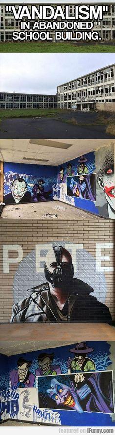 Vandalism In Abandoned School Building...