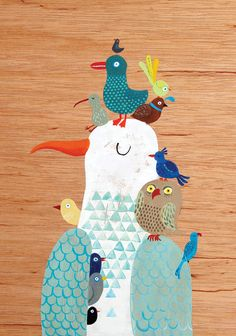Greeting card  Bird King by lukaluka on Etsy, $5.00