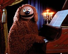 Ralph playing the piano on The Muppets