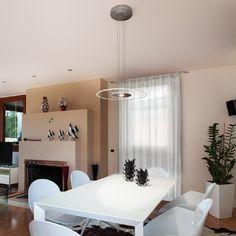 AIR MOON - Overhanging lamp, ideal for the lighting of interiors, living-rooms, offices. #LED #light_e_design #design #illumination #lamp #lightdesign #indoor #lighting #lamp #pendant #iluminacion #decor #home #decoracion #lampara