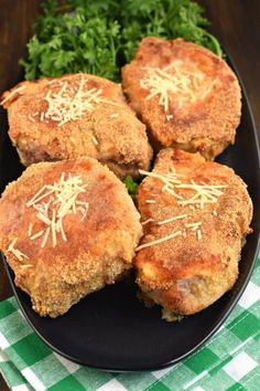 Thick and Juicy Parmesan Oven Baked Pork Chops #porkchop #dinner #dinnerrecipes