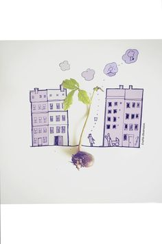 found a tree today #illustration #growth #architecturesketch Eva Pils Illustration