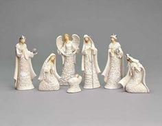 Nativity Sets Exclusive 7-Piece Nativity Set Features The Holy Family with The 3 Kings and a Gloria Angel 7.5-Inch