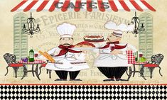 French Art Print by Jean Plout. All prints are professionally printed, packaged, and shipped within 3 - 4 business days. Choose from multiple sizes and hundreds of frame and mat options. Thing 1, Le Chef, Sale Poster, Art Pages, All Print, Fine Art America, Whimsical, Chefs, Digital Art