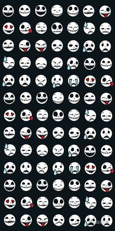 Nightmare Before Christmas - emoticons :3 so cute
