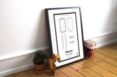 Add some inspiration to your space with the Apple iPhone Patent Poster.