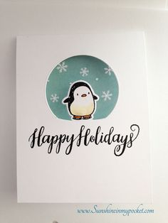 Holiday OCC — Day 4 One-Layer Cards