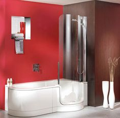 Twinline Tub Shower Combo Tub shower combo Tubs and Kid bathrooms