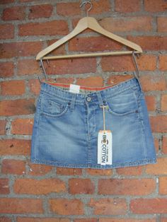 "KUYICHI organic cotton denim mini skirt howie outfitters 28"" only £15.99"