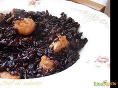 Riso venere pomodorini e mazzancolle #ricette #food #recipes