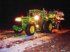 Happy Holidays From John Deere MachineFinder Western Christmas, Christmas Tree Farm, Christmas Love, Country Christmas, Christmas Pictures, Christmas Crafts, Christmas Decorations, Country Holidays, Snowy Pictures