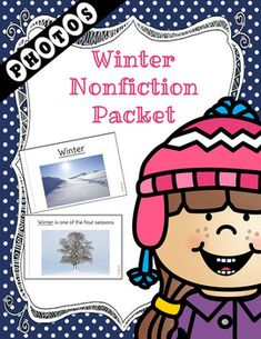 A non-fiction unit packed with Winter information and real photos.  Perfect for the Autism/ESE class.  The packet contains realistic photographs for better understanding of the images.  Generalization can be easier when images are realistic.The packet contains the following:Level 1 Book  A book with an easier reading level and the key word for the packet is underlined throughout.