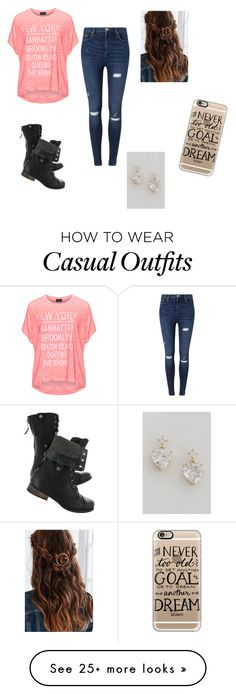 """""""Just casual"""" by art4ever on Polyvore featuring Replace, Miss Selfridge, Casetify, women's clothing, women, female, woman, misses and juniors"""