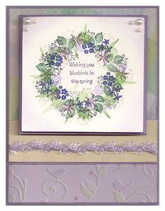 Floral Wreath Card by Julia Freeman