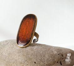 Distressed orange ring Black-orange ring Dark by MadForCraftGR
