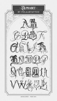 Tattoo Lettering Styles, Graffiti Lettering Fonts, Chicano Lettering, Graffiti Alphabet, Script Lettering, Different Lettering, Types Of Lettering, Alfabeto Tattoo, Tattoo Stencil Designs