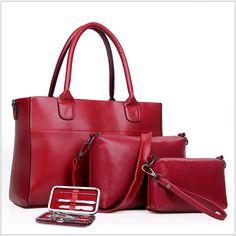 39.00$  Watch here - http://alivch.shopchina.info/go.php?t=32565009632 - Big Bags Women Handbags Women's Messenger Bags Ladies Fashion Designs Bags Girl Handbag+Messenger Bag+Purse+Nail Set 4PCS H112 39.00$ #aliexpress