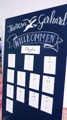 Hochzeitsdeko / Sitzplan #lassnig Planer, Seating Plans
