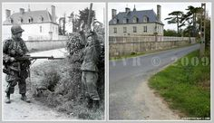 Then/Now.... US Soldier bags a Kraut