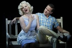 """Marilyn Monroe and Joe DiMaggio in """"Bombshell"""", the fictitious Broadway musical centerpiece of the show."""