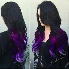 Black, violet, purple, lavender #Ombre #HairColor