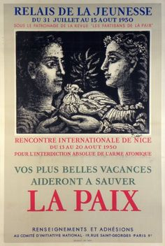 Wir suchen dieses Plakat für unsere PICASSO-SAMMLUNG  we are looking for this poster for our PICASSO-COLLECTION  Nous cherchons cet affiche pour notre COLLECTION-PICASSO